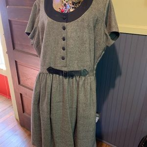 Fall/winter like-new tweed 1x dress w/ pockets!